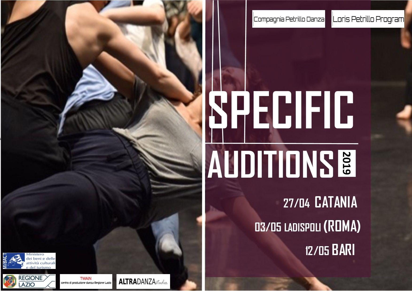 audizioni specific corso di perfezionamento compagnia petrillo danza 2019/20